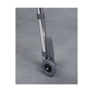 Non Swivel Rear Walker Wheels w/ Brake; 1 Pair