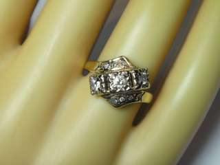 INCREDIBLE ART DECO NOUVEAU 1920S 14K YELLOW GOLD DIAMOND ESTATE