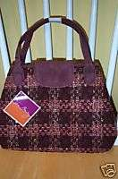 Vera Bradley Retired Limited Edition Tweed Tab Satchel