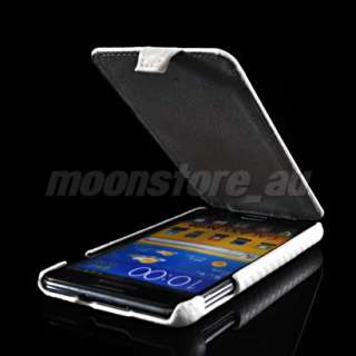 CARBON FIBRE FLIP HARD BACK CASE COVER SAMSUNG GALAXY NOTE GT N7000
