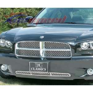 2006 2010 Dodge Charger Dual Weave Mesh Grille 2PC   E&G