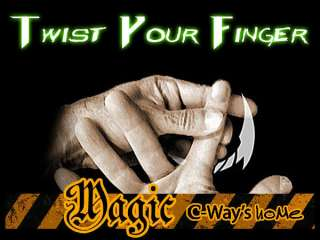 D105 Close Up Magic Street Trick Twist Your Finger +DVD
