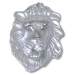 Sterling Silver Lions Head Charm Gold and Diamond Source Jewelry