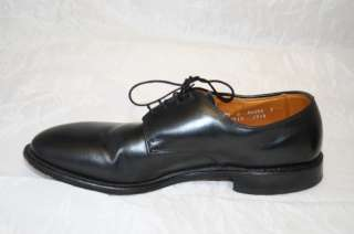 MODEL HARRISON MENS 9.5 E RICH BLACK LEATHER DRESS OXFORDS ~r