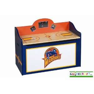 Golden State Warriors Wood Wooden Toy Box Chest  Sports