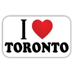 I Love TORONTO Car Bumper Sticker Decal 5 X 3