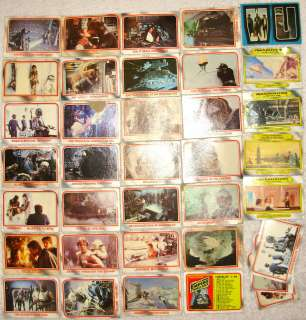 EMPIRE STRIKES BACK TOPPS TRADING CARDS LOT OF 35 CARDS+STICKER