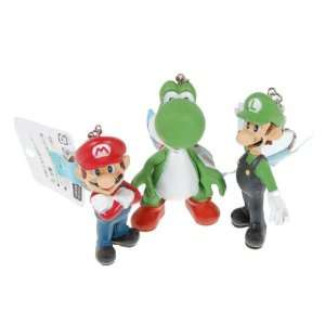 Super Mario Bros Action Figure Keychain 3piece Set [Toy] Toys & Games