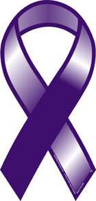 Plain Purple Cancer Awareness Car Ribbon Magnet