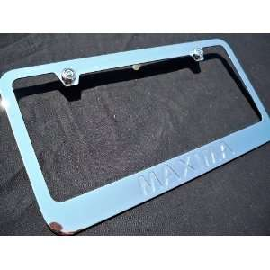 Nissan Maxima Chrome Metal License Plate Frame with Emblem