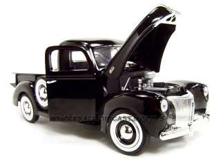 1940 FORD PICKUP BLACK 118 DIECAST MODEL