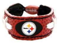 PITTSBURGH STEELERS NFL LEATHER FOOTBALL LACES BRACELET