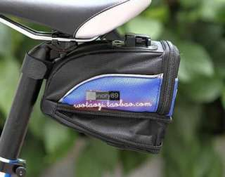 Cycling Bicycle saddle bag bike Seat extending bag + 5 LED Tail light