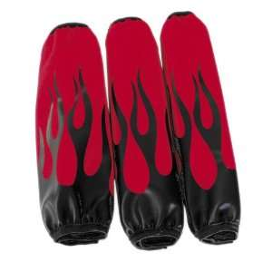 Shock Covers   Red / Black Flames , Color Black, Color Red SH RB1