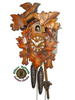 Black Forest Cuckoo Clock Carving Clock 1 Day 9.8 NEW
