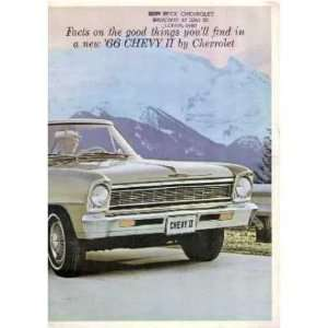 1966 CHEVROLET CHEVY II Sales Brochure Literature Book