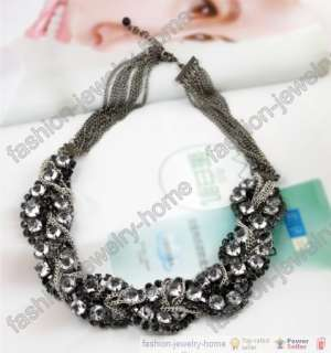 Fashion Multilayer Chains crystal handmade Necklace
