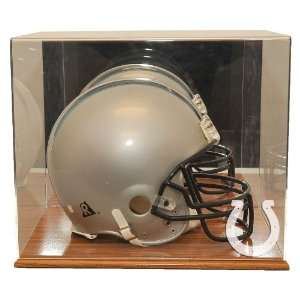 Indianapolis Colts Oak Finished Base Helmet Display