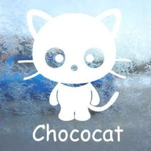CHOCOCAT CAT KITTEN White Decal Car Window Laptop White