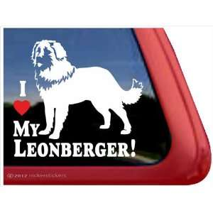 I Love My Leonberger ~ Leonberger Vinyl Window Auto Decal
