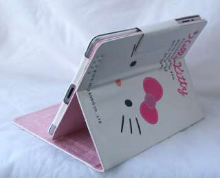 Hello Kitty leather case cover with stand iPad2 white 4 accessory