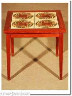DANISH MODERN TEAK TILE COFFEE TABLE