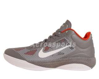 Nike Zoom Hyperfuse Low Grey Orange Basketball Shoes 452872005