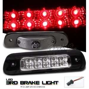 99 00 01 02 03 04 JEEP GRAND CHEROKEE CHROME LED 3RD TAIL