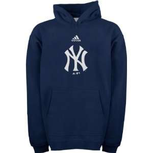 New York Yankees Navy Adidas Team Logo Youth Hooded Sweatshirt