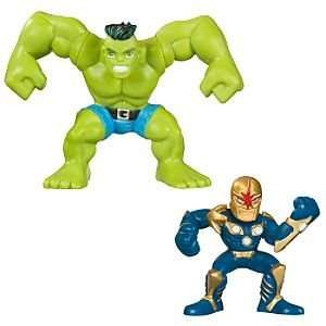 Marvel Super Hero Squad    Hulk and Nova Action Figures Toys & Games