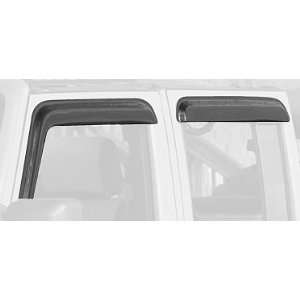 and Rear Window Rain Deflector for Jeep Wrangler JK 4 Door Automotive