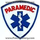 Paramedic Star of Life Ambulance EMT EMS Fire Patch