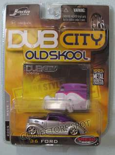 JADA TOYS DUB CITY OLDSKOOL 36 FORD PURPLE SILVER 1/64