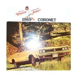 1969 DODGE CORONET Sales Brochure Literature Book