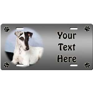 Smooth Fox Terrier Personalized License Plate Sports