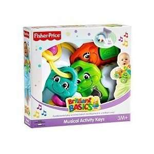 Fisher Price Brilliant Basics Musical Activity Keys Toys