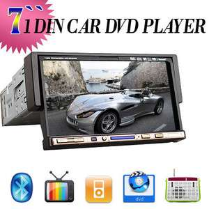 Single Din In dash Car Stereo DVD Player BT TV IPOD Radio+US