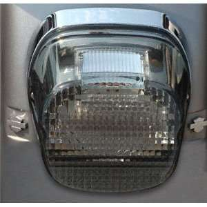 Genesis II LED Tail Lights for Harley Davidson   Smoked Laydown With