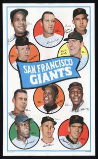 1969 Topps Team Poster San Francisco Giants High grade