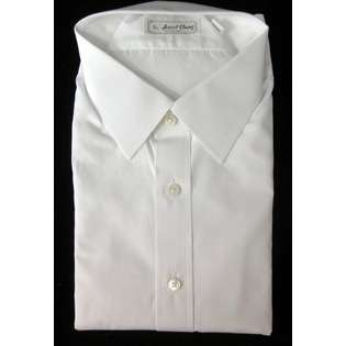 Ascot Chang NEW ASCOT CHANG Mens White Cotton Londoner Spread Collar
