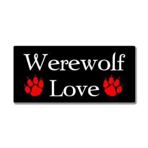 Werewolf Love   Werewolves   Window Bumper Sticker