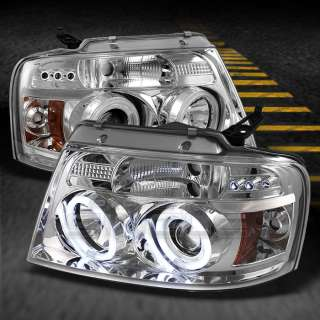PICKUP CHROME DUAL CCFL HALO PROJECTOR LED G2 HEADLIGHTS LAMPS