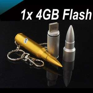 1PCS 4GB Mini Metal Bullet Shaped USB 2.0 Flash Memory Drive Unique