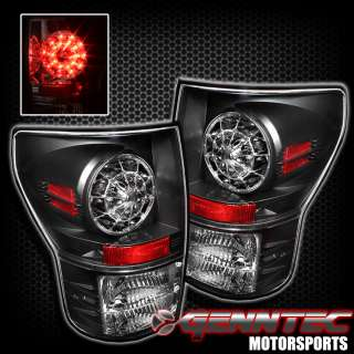 07 10 TOYOTA TUNDRA FULL LED TAIL LIGHTS JDM BLACK LAMP