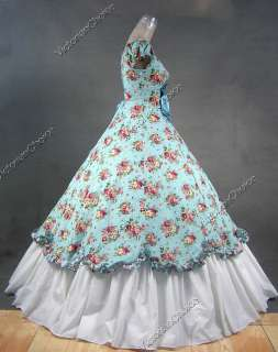 Southern Belle Civil War Cotton Flax Gown Dress 273 M