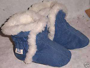 MOXIES leather and SUEDE baby soft sole boots DENIM 6 12M you pick