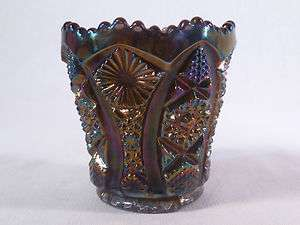 Imperial Rainbow Amethyst Rare Octagon Pattern Toothpick Holder