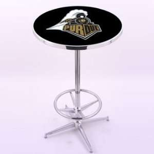 Bar Stool Co. Purdue University Chrome Pub Table Furniture & Decor