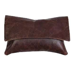 Monticello Chocolate Leather Pillow