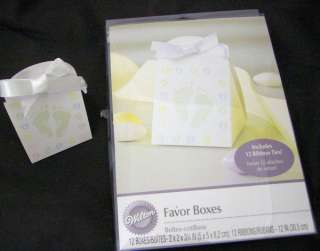 24 Wilton Brand Baby Shower Favor Boxes with Ribbons 070896321466